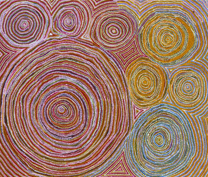 wentja napaltjarri rockhole art aborigene et art occidental australien galerie arts d. Black Bedroom Furniture Sets. Home Design Ideas
