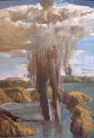 Euan MACLEOD_Mushroom cloud figure_Art aborigene australien