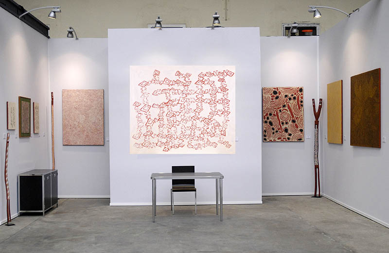 Peintrue aborigène à Art Paris Art Fair 2015
