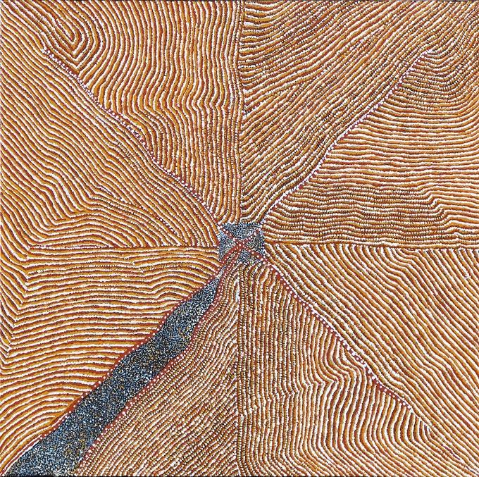 Kathleen PETYARRE_Mountain Devil Lizard Dreaming_Art aborigène australien